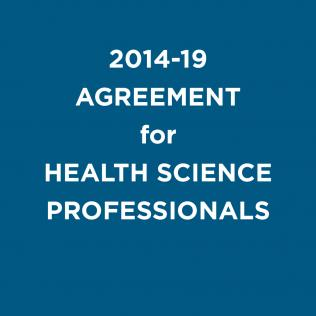 2014-19 agreement for health science professionals